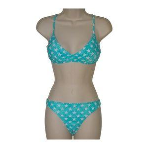 The Bikini Lab blue bralette bikini M